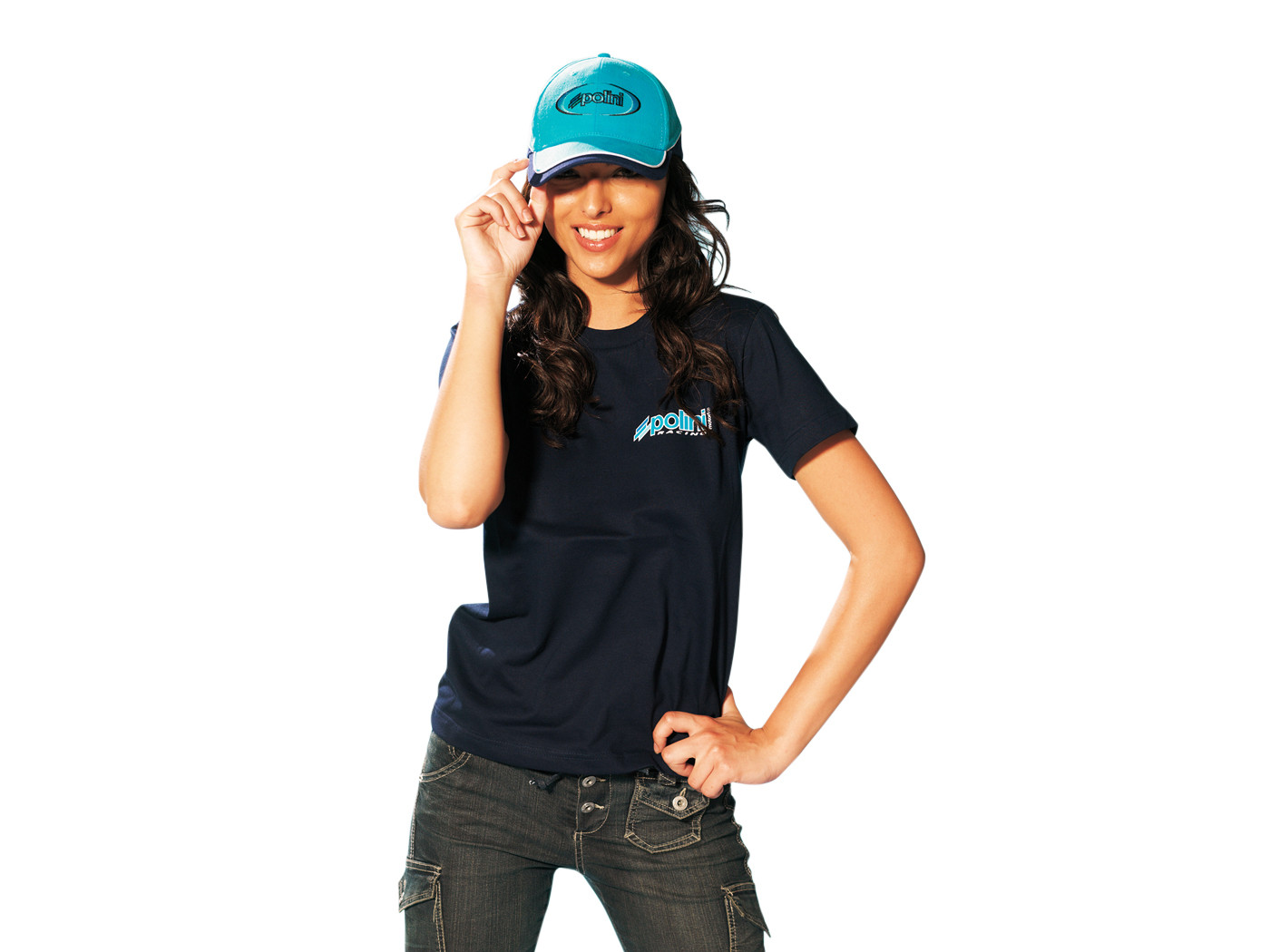 T-Shirt Polini navy Maat S
