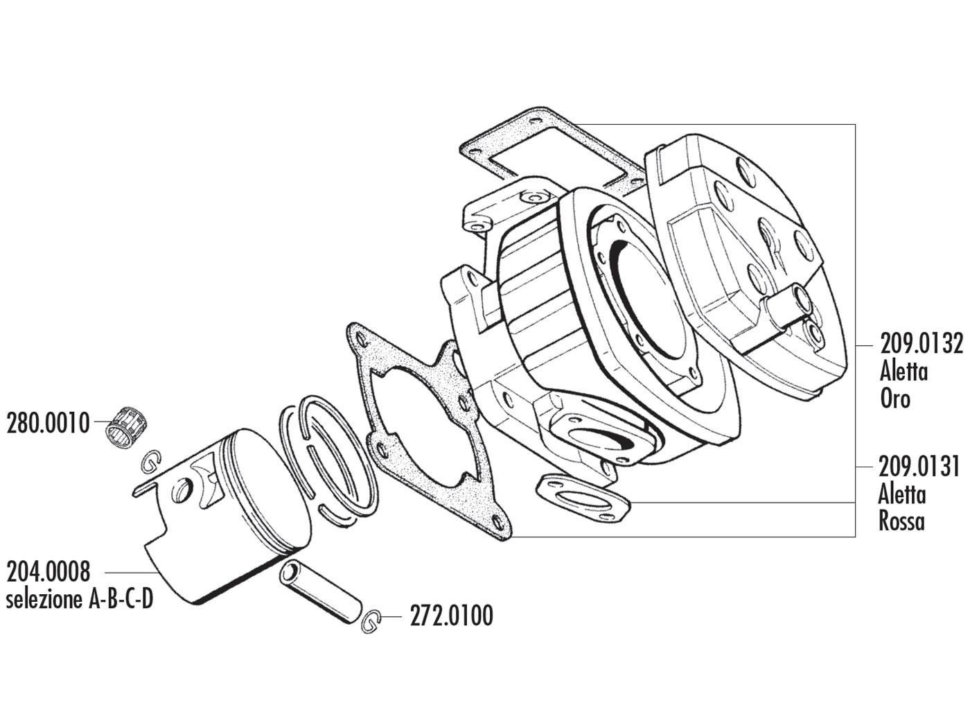 Pistonpen Borgclip Polini 16mm