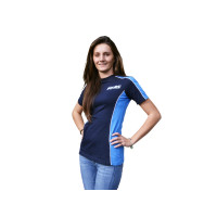 T-Shirt Polini Race Team Damen navy-lichtblauw Maat S