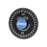 Gradscheibe Polini Aluminium zwart geanodiseerd incl. Adapter