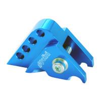Schokbrekerverlenger Polini CNC 4-Loch blauw voor Minarelli horizontaal