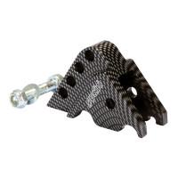 Schokbrekerverlenger Polini CNC 4-Loch Carbon-Look voor Minarelli horizontaal