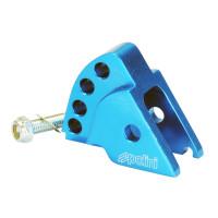 Schokbrekerverlenger Polini CNC 4-Loch blauw voor Minarelli verticaal