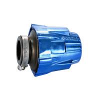 Luchtfilter Polini Blue Air Box 37mm recht blauw-schwarz