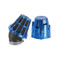 Luchtfilter Polini Blue Air Box 37mm 30° blauw-schwarz
