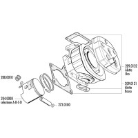 Zuiger Kit Polini 165cc 64mm (B) voor Cagiva 125 2T LC