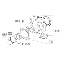 Zuiger Kit Polini 165cc 64mm (A) voor Cagiva 125 2T LC C10, C12