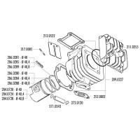 Zuiger Kit Polini 50cc 40,8mm, 10mm Pistonpen voor Minarelli