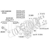Zuiger Kit Polini 52mm, 13mm Pistonpen (D) voor Piaggio, Minarelli