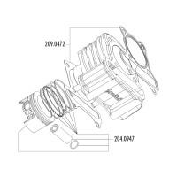 Zuiger Kit Polini 221cc 69mm voor LML 200 4T (Vergasermodell)