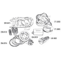 Zuiger Kit Polini 300ccm 75mm voor Piaggio 300ie 4T LC Quasar