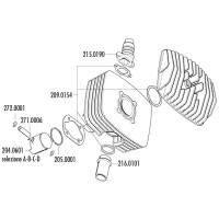 Zuigerveer Polini Serie 6000 48x2mm