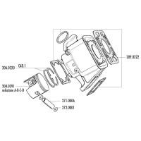 Zuigerveer Polini 100cc 55x1,5mm voor Yamaha DT 80 LC