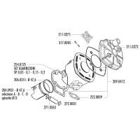Zuigerveer Polini Evolution 47,6x0,8mm voor Minarelli, Piaggio