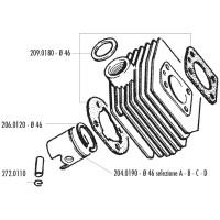 Cilinder Pakkingset Polini 46mm voor MBK AV-10, AV-51, 92GT, M16