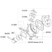 Cilinder Pakkingset Polini 47mm voor Minarelli RV4-3, MR4