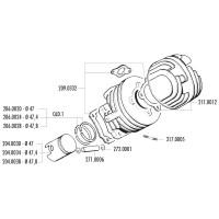 Cilinder Pakkingset Polini Racing voor Ape, Vespa N, PK, Special, XL, ET3 50 2T