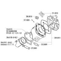 Cilinder Pakkingset Polini Evolution 50cc voor Minarelli LC