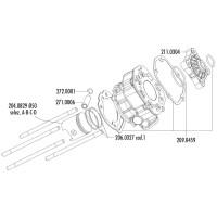 Cilinder Pakkingset Polini Racing 80ccm voor Piaggio / Derbi Motor D50B0