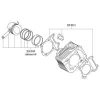 Cilinder Pakkingset Polini 198cc voor Piaggio 125cc 4T 2V Leader