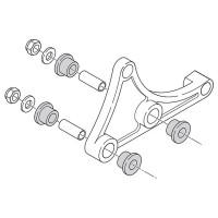 Uitlaatbevestiging Polini Evolution voor Minarelli horizontaal