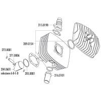 Uitlaatflens Polini voor Serie 6000 Cilinderkits