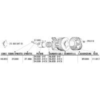 Moer Cilinderkop Polini Set van 4 stuks - M7