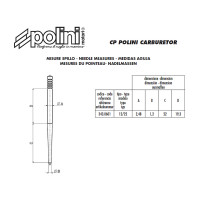 Gasnaald Polini 12/22 voor CP Carburateur