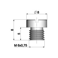 Carburateur Hoofdsproeier Polini 6mm voor Dellorto Carburateur - 82