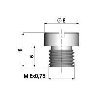 Carburateur Hoofdsproeier Polini 6mm voor Dellorto Carburateur - 88