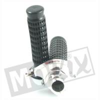 Snelgas - Tommaselli - Recht model - Aluminium / Zwart