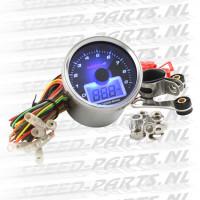 Teller Koso - Toerenteller / Oliedrukmeter - Blauw licht