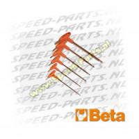 Inbusset T Sleutel 2 zijden - Beta - 6 Delig
