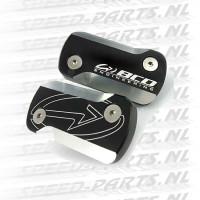 Remreservoirdeksel BCD 2-Stuks - Peugeot Speedfight / Jetforce - Zwart