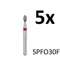 Diamantfreesjes - 1.6mm - SPFO30F (5 stuks)