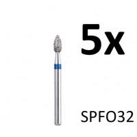 Diamantfreesjes - 1.6mm - SPFO32 (5 stuks)