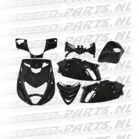 Kappenset DMP - zwart - Piaggio Zip 2000 sp look