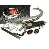 Uitlaat Turbo Kit Bajo RQ Chroom voor Yamaha DT50 (04-), MBK X-Limet 04-
