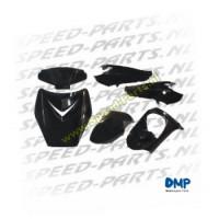 Kappenset DMP - Peugeot Vivacity - 6 Delig - Zwart