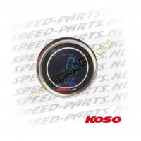 Teller Koso - Toerenteller / Temperatuur / Klok - Zwart / Blauw