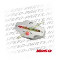 Teller Koso - Volt meter - 8-16 Volt - Zilver
