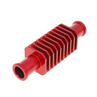 Koelpijp vierkant - Str8 - tussen slang - Rood