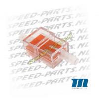 Benzinefilter - Motoforce - 7mm aansluiting - Oranje