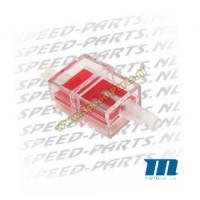 Benzinefilter - Motoforce - 7mm aansluiting - Rood