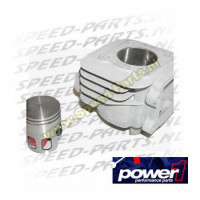 Cilinder - Power 1 - aluminium - 50cc - Minarelli Vertikaal AC