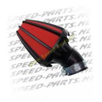 Powerfilter Koso Spider - Zwart/Rood 48mm 45graden