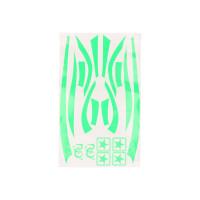 Stickerset R&D fluor groen voor Piaggio Zip 50 2T SP LC 96-99