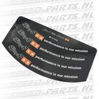 Stickerset Stage 6 - Velgrand / Wielstriping - 10 inch - Zwart
