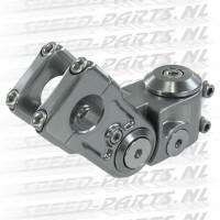 Stuur clamp Stage 6 SSP - Peugeot Speedfight - Staalgrijs
