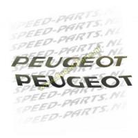 Sticker - Peugeot 2 Delig - Zwart